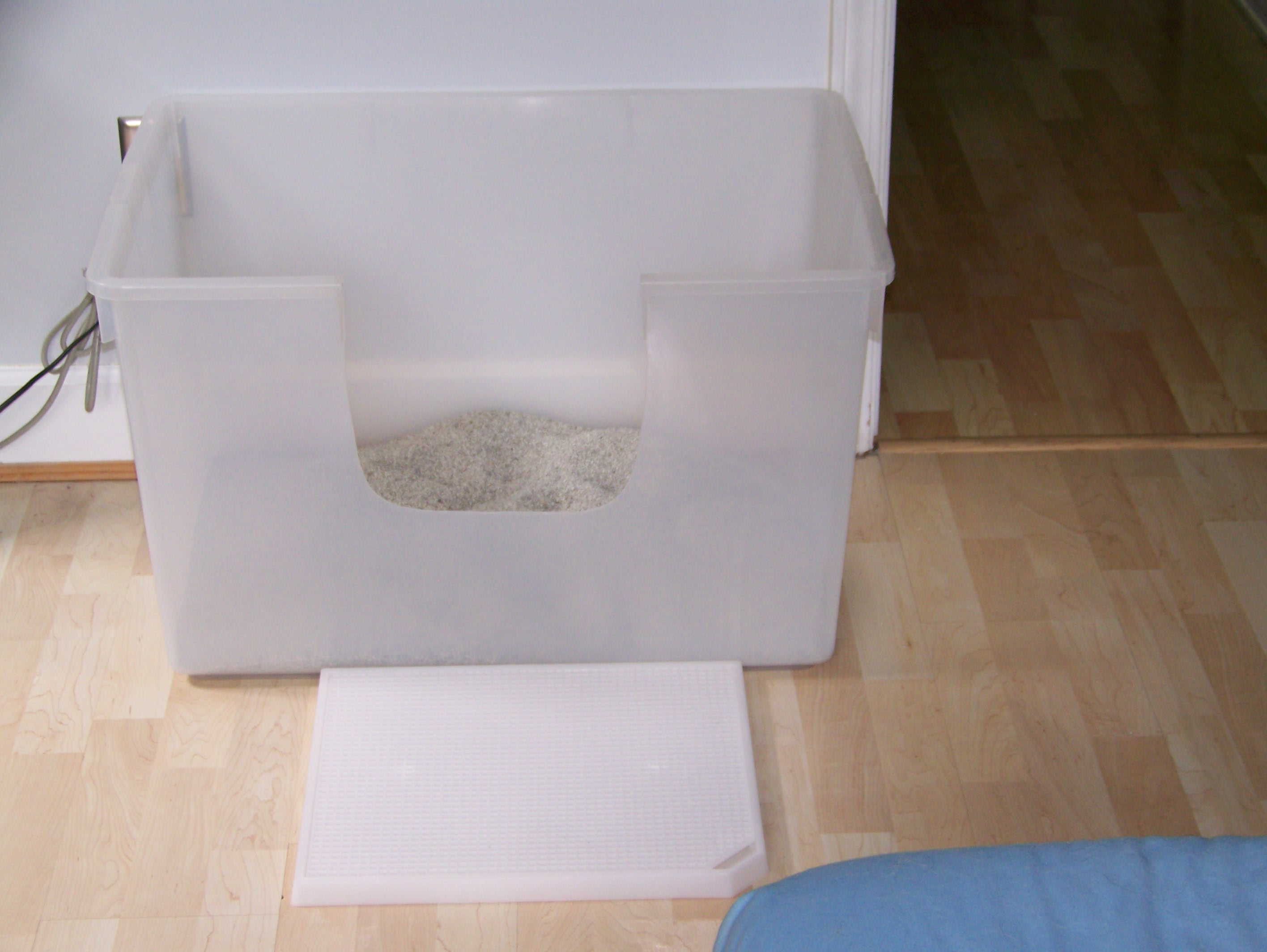 Large Clear Storage Totes Work Best Bigger Is Better With Cat Litter