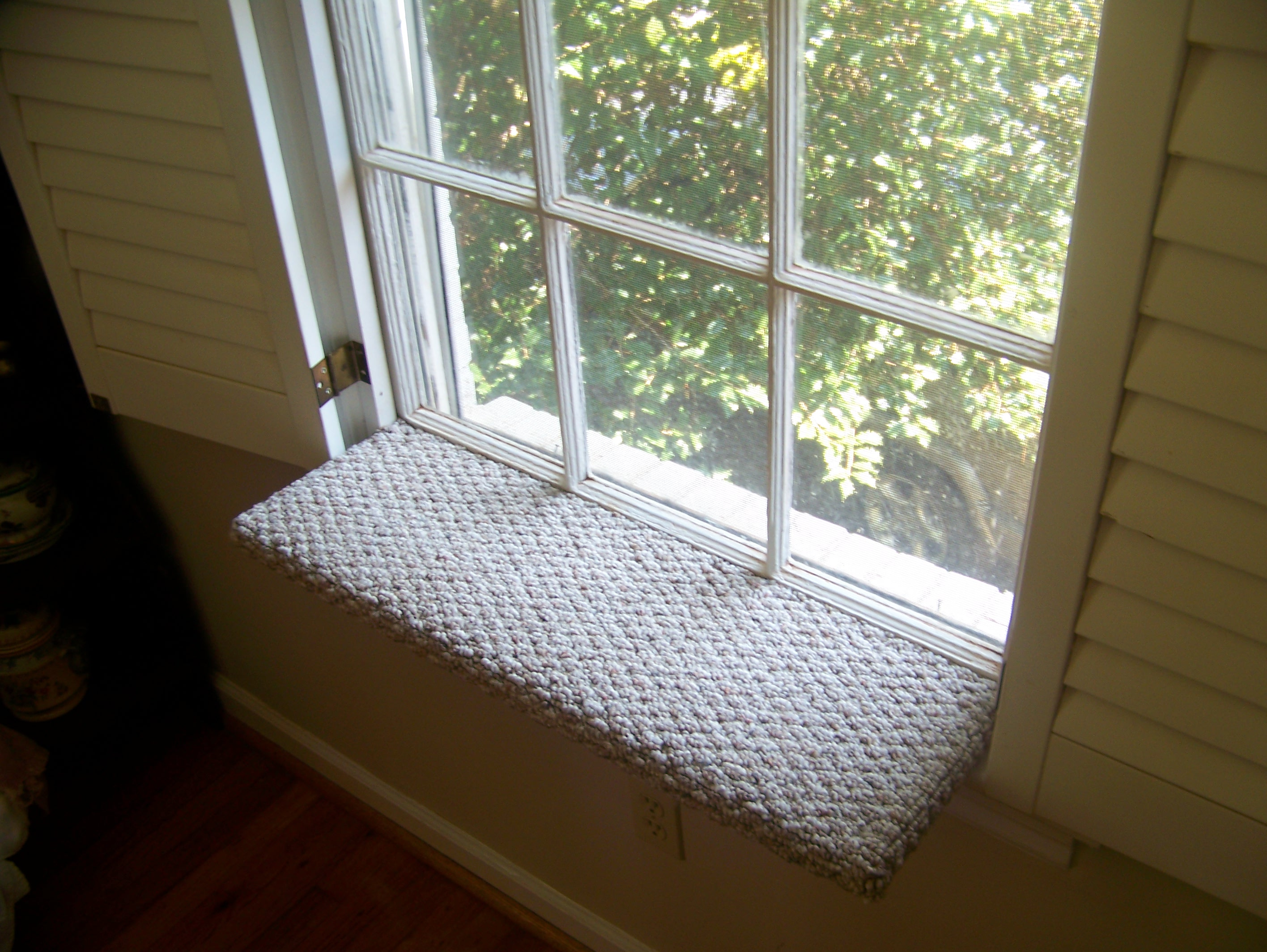 window perches to maximize bird watching was also requested here we utilized materials the