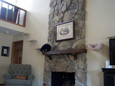 Per the client's request we utilized the mantle as part of the runs.