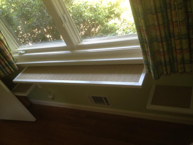 The windowsills were also catified