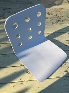 Simple Ikea chair sans hardware.