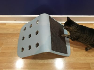 1. Staple & glue sisal carpet to chair seat.