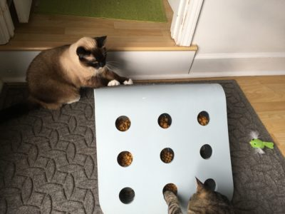 Simultaneous scratch ramp and puzzle use.